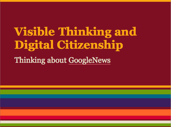 Visible Thinking and Digital Citizenship